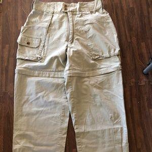 CABELA'S CONVERTIBLE zip cotton CARGO BEIGE 32/29